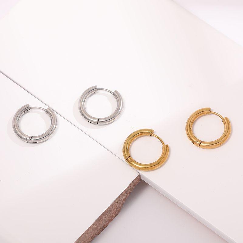 stainless steel doublesided ear buckle round wire ear buckle boutique hypoallergenic earrings wholesale nihaojewelry NHLL239673