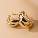 exaggerated round cross earrings South Korea trendy ear buckle minimalist ear jewelry wholesale NHAI239684