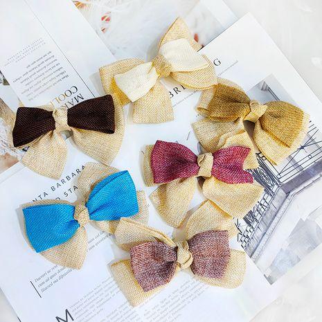 gros noeud épingle à cheveux coréen super double lin tissu en gros nihaojewelry NHUX239705's discount tags