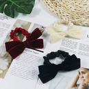 bowknot woolen hairpin back head top clip hairpin simple headdress wholesale nihaojewelry NHUX239706