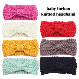 Children's Bohemian Hairband Knitted Wool Earmuff Headgear Baby turban wholesale NHDM239712's discount tags