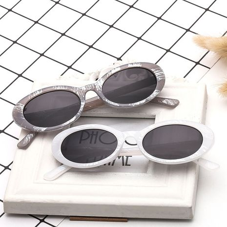 Oval cat eye fashion retro trend wild sunglasses hot sale wholesale NHBA239737's discount tags