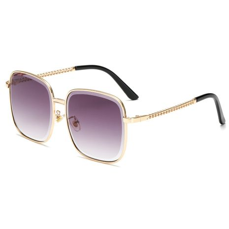 New box chain leg tide gradient ocean lens sunglasses for women wholesale NHBA239739's discount tags