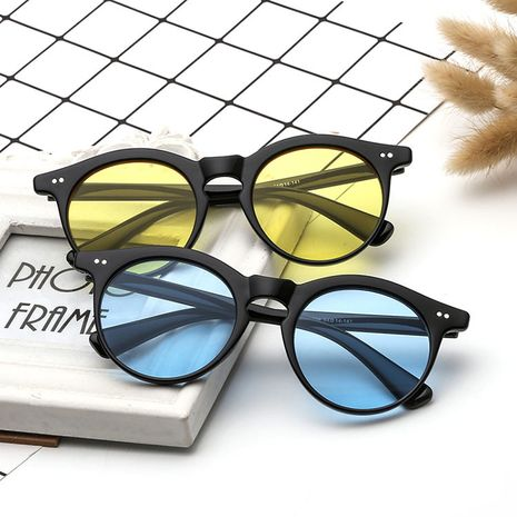 New rice nail retro round ocean lens sunglasses for women wholesale NHBA239748's discount tags