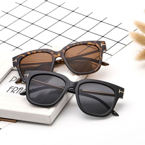 New trend fashion metal T decoration square sunglasses driver glasses NHBA239750's discount tags
