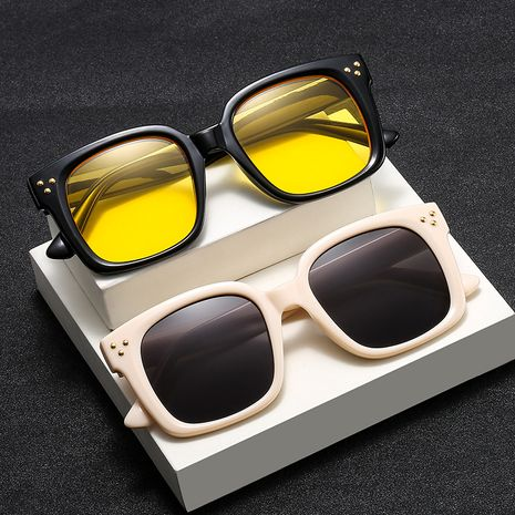 Trendy brand new rice nail trend big frame star with retro sunglasses wholesale NHBA239759's discount tags