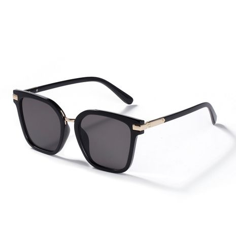 Semi-metal Korean fashion retro casual square men's and women's sunglasses  NHXU239766's discount tags