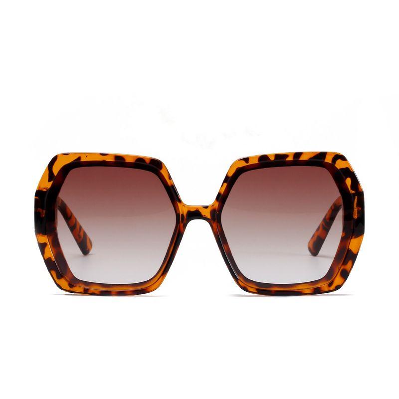 Oversized frame Korean fashion trend retro men's and women's new frame diamond sunglasses  NHXU239767