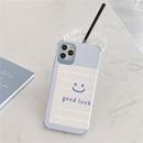 Blue Plaid Smiley Face Emoji Phone Case for iPhone11pro Silicone Silk Apple Se2 Soft Shell P40Pro NHFI239841