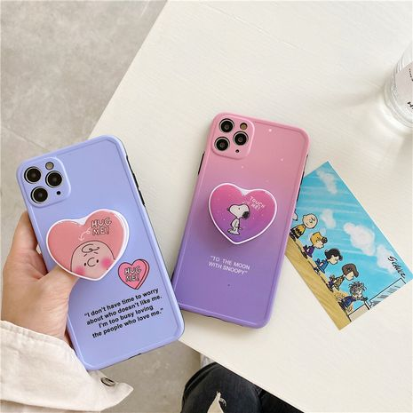 cartoon bracket mobile phone case for iPhone 7p SE XS 11Pro anti-drop silicone case wholesale NHFI239879's discount tags
