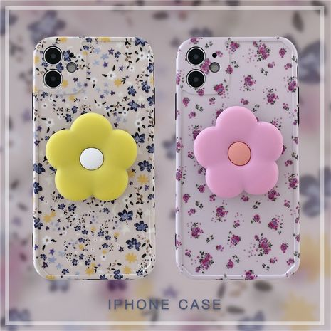 Flower Bracket mobile phone case for iPhone 8 7p XS SE2 11Pro anti-drop silicone case wholesale NHFI239880's discount tags