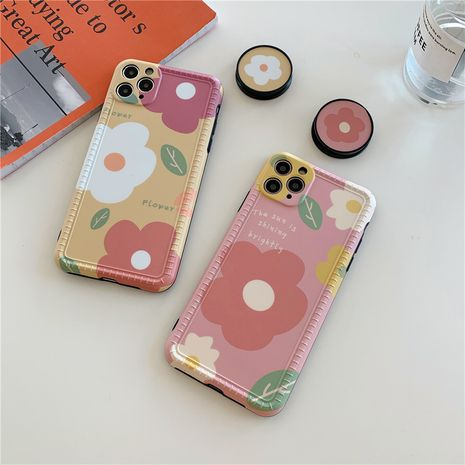 Korean style small flower bracket cover for iPhoneXS SE2 11pro mobile phonecase silicone wholesale NHFI239881's discount tags