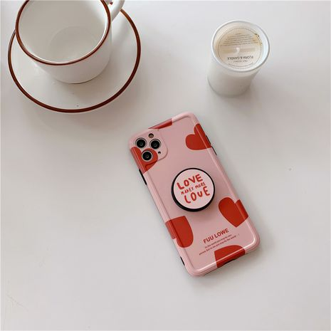 Korean love mobile phone case for iPhone 7 8plus XS SE 11Pro silicone case wholesale NHFI239882's discount tags