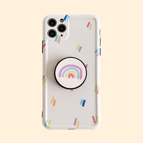 Simple rainbow stand mobile phone case for iPhone 8p 7p XR SE2 wholesale NHFI239884's discount tags