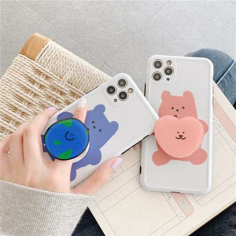 bear stand mobile phone case for Iphone XS XR SE2 XSMAX 11Pro soft shell wholesale NHFI239892's discount tags