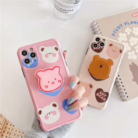 bear stand mobile phone case for Iphone XS XR SE2 XSMAX soft case wholesale NHFI239893's discount tags
