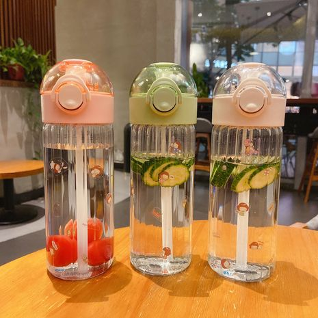 Glass straw simple portable large-capacity pregnant woman's water cup cute girl  NHtn239921's discount tags