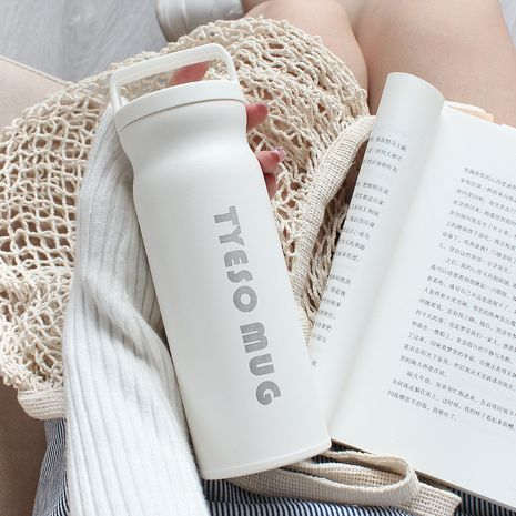 Student water cup simple frosted art portable trendy men's and women's tea vacuum flask NHtn239934's discount tags