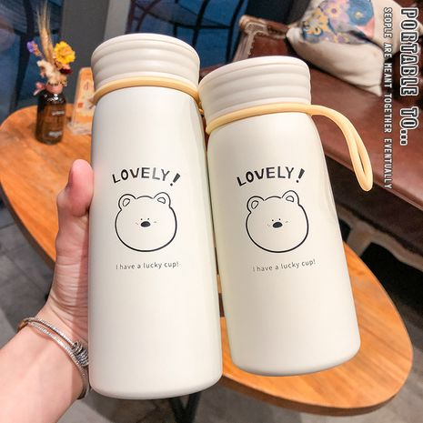 Cute girl heart stainless steel student portable fresh simple strokes Korean water vacuum flask  NHtn239937's discount tags