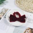 NHUX864611-Burgundy-Velvet-Bow-Hair-Tie