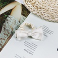 NHUX864556-Beige-cotton-with-bow-hair-tie