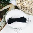 NHUX864558-Black-cotton-ribbon-bow-hairpin