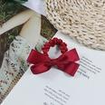 NHUX864560-Burgundy-Cotton-Ribbon-Bow-Hair-Tie