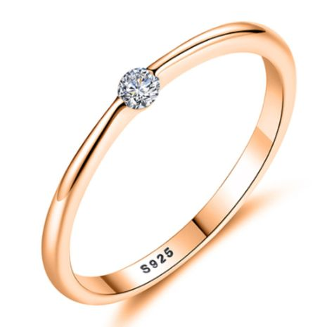 New simple fashion S925 silver inlaid zircon ring wholesale  NHKL239963's discount tags