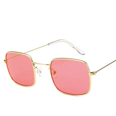 Korean trend ocean color metal ocean piece cat eye large frame sunglasses for women flat lens NHBA239751's discount tags