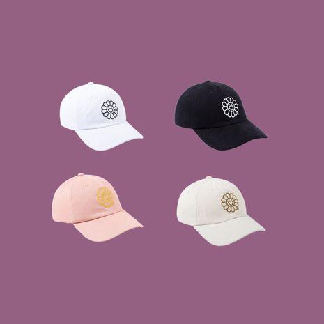 Fashion deep top face small sunscreen wild cap summer couple pure cotton sun hat baseball cap NHTQ239785's discount tags