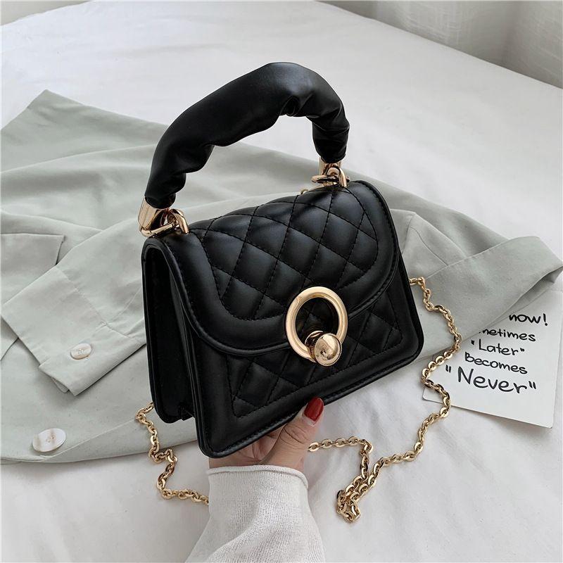 korean fashion simple solid color  popular new trendy   handbag shoulder chain bag  wild messenger bag wholesale NHJZ231506