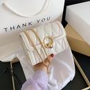 new  small bag  popular new trendy  wild diamond chain crossbody bag texture small square bag nihaojewelry wholesale NHTC231552