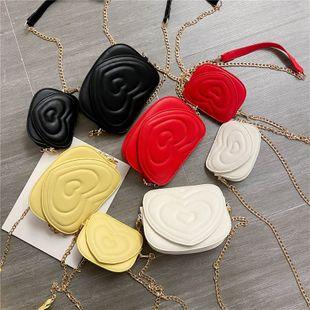 nouvelle mode coréenne fil brodé amour épaule petit sac carré femme chaîne sauvage étrangère sac bandoulière en gros NHPB231598's discount tags