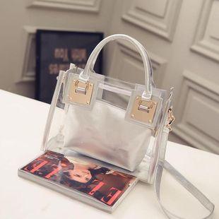 Transparent gelée cristal sac nouveau sac de plage épaule portable messenger sac coréen mère et fille sac en gros NHXC231645's discount tags