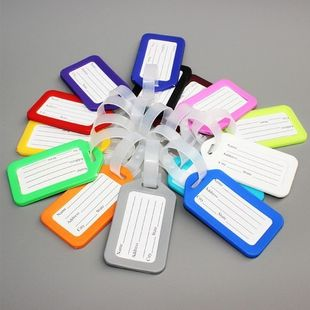 fashion simple Travel baggage tag luggage trolley bag consignment card identification card luggage tag tag wholesale NHJA231656's discount tags