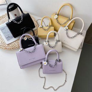 nouvelle mode coréenne chaîne de marguerite sauvage mini sac à main femme style étranger messager épaule petit sac carré en gros NHPB231657's discount tags