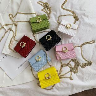 nouvelle coréenne petite mode chaîne de losanges parfumés mini sac à bandoulière femelle boucle de verrouillage sauvage bandoulière petit sac carré en gros NHPB231664's discount tags