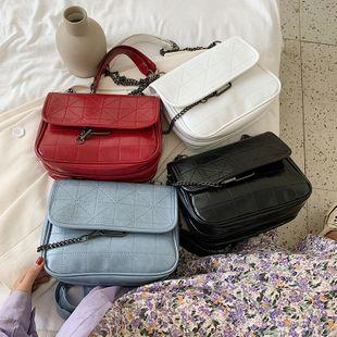 nouvelle mode coréenne sauvage couleur unie épaule messenger sac casual chaîne losange sac errant en gros NHPB231684's discount tags