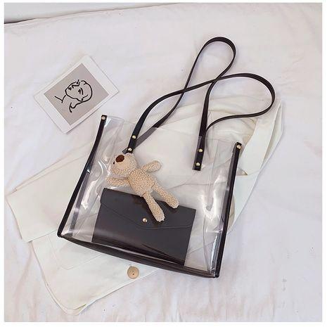 Grande capacité sac fée sac été nouveau populaire coréen sauvage transparent sac à main unique épaule fourre-tout sac en gros NHTC231720's discount tags