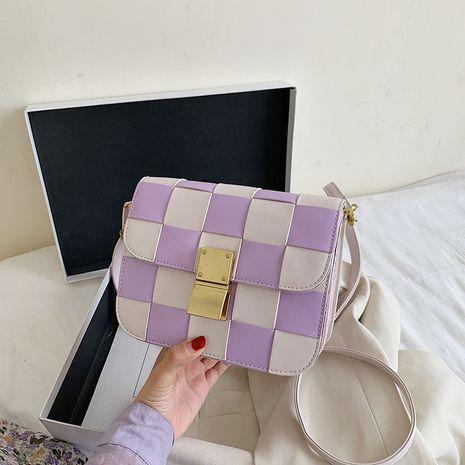 nouvelle mode simple petit sac carré sauvage sac à bandoulière sauvage tissé serrure petit sac en gros NHJZ231731's discount tags