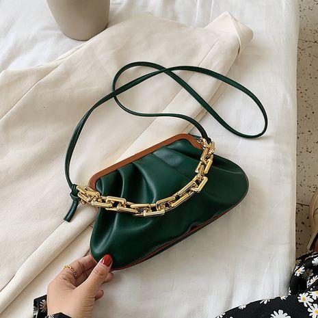 Sac de boulette rétro sac féminin sac à bandoulière texture chaîne épaisse sac à bandoulière nouveau sac de téléphone portable de mode coréenne NHJZ231734's discount tags