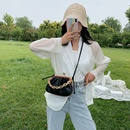 Retro dumpling bag female bag thick chain texture shoulder messenger bag  new Korean fashion mobile phone bag wholesale NHJZ231734