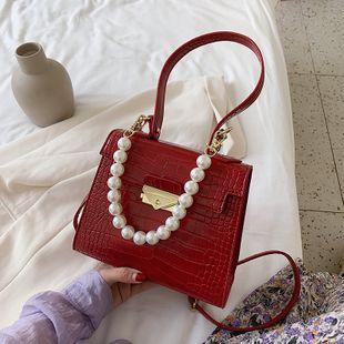 Coréen mode pierre motif femmes sac simple perle sac à main sac à bandoulière tendance aisselle Messenger sac en gros NHJZ231735's discount tags