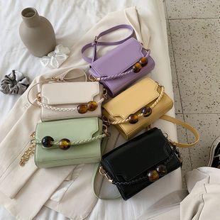Nouveau mode coréenne rétro niche perle sac à main sauvage à clapet épaule messenger sac en gros NHPB231754's discount tags