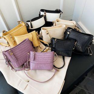 nouveau sac à bandoulière de chaîne de crocodile de mode coréenne sauvage sac à bandoulière de couleur unie sauvage en gros NHPB231758's discount tags