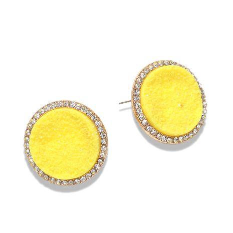botón mate de moda pendientes de diamantes redondos pendientes irregulares de diseño de relieve al por mayor nihaojewelry NHJQ231776's discount tags