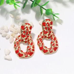 Pendientes de gota de aceite geométricos irregulares de moda creativa pendientes de color de metal punk bump simple al por mayor nihaojewelry NHJQ231778's discount tags