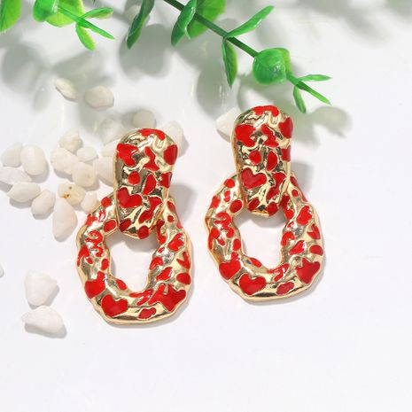 creative fashion irregular geometric oil drop earrings metal punk bump color earrings simple wholesale nihaojewelry NHJQ231778's discount tags
