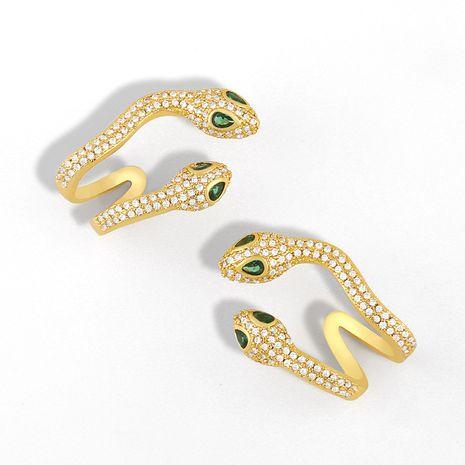 micro-ensemble créatif zircon serpentine oreille sans oreille clip boucle d'oreille simple en gros nihaojewelry NHAS231797's discount tags