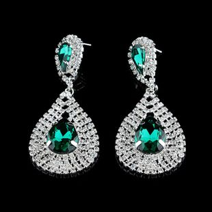 hot sale earrings fashion big drop-shaped diamond earrings wholesale nihaojewelry NHNZ231834's discount tags